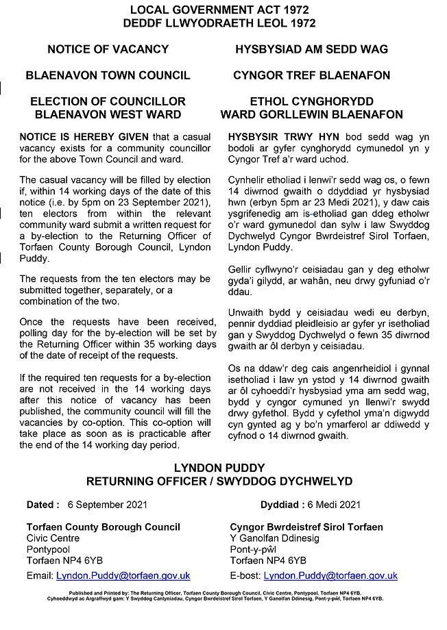 Notice_of_vacancy_BLAENAVON_AMENDED WELSH SEPTEMBER 21.jpg