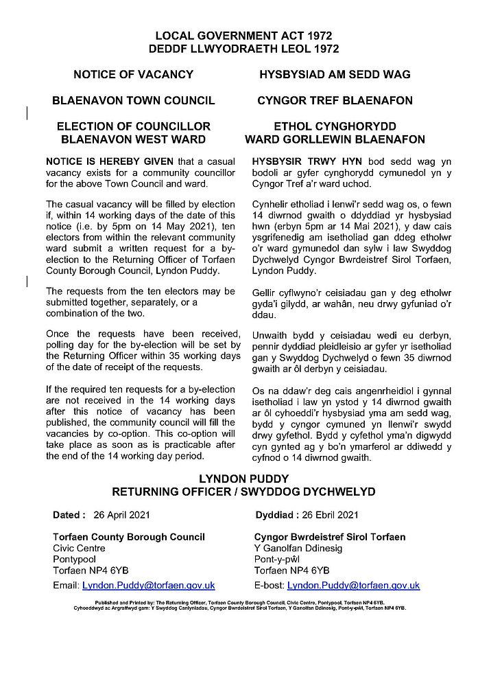 Notice_of_vacancy_BLAENAVON_AMENDED WELS