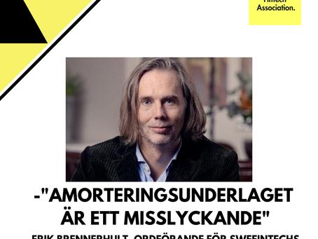 """Debattartikel i SvD: """"Amorteringsunderlag är ett misslyckande"""""""
