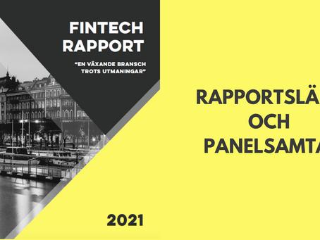 "Lunchwebinar: Rapportsläpp och panelsamtal ""fintech-rapporten 2021"""