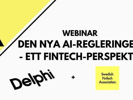 Lunch-Webinar med SweFinTech & Delphi den 11e juni
