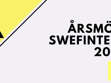 Välkommen att anmäla dig till 2020-års årsmöte med SweFinTech.