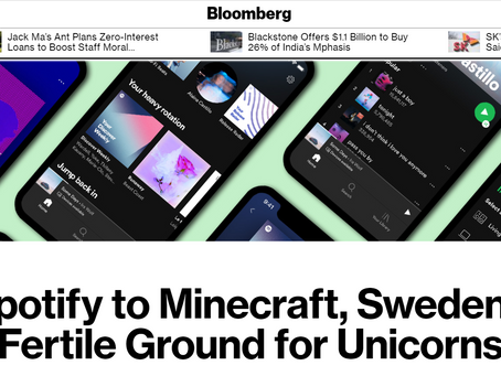 SweFinTech's Louise Grabo quoted in Bloomberg article about Swedish unicorns and tech scene