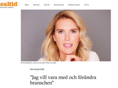 """Karriärporträtt i Realtid: """"Jag vill vara med och förändra branschen"""""""