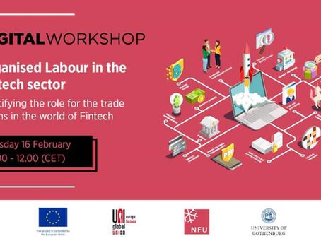 Digital Workshop on Trade Unions in Fintech