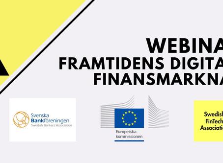 Webinar om Framtidens digitala finansmarknad