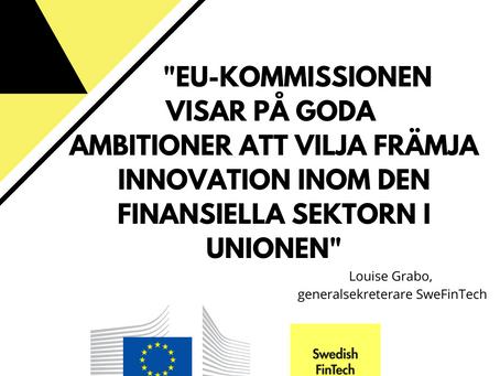 SweFinTechs synpunkter på EU Digital Finance Package