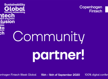 Community partner to Copenhagen Fintech Week 2020