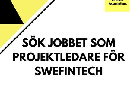 SweFinTech söker projektledare på deltid