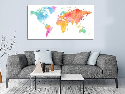 Mapa mundi acuarela