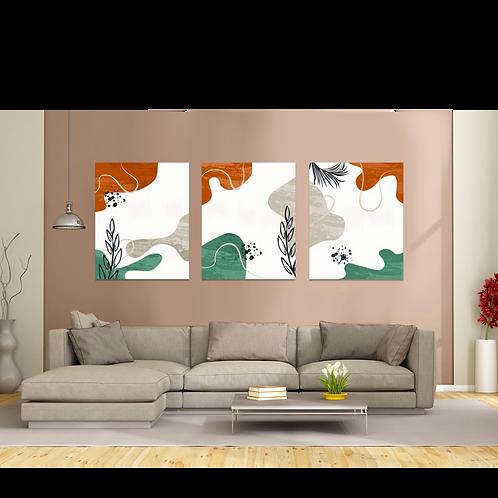 Abstracto verde y cafe