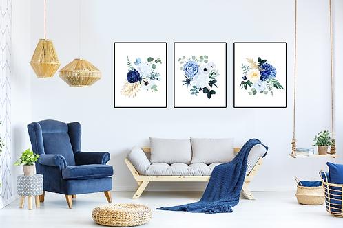 Ambiente de rosas azul