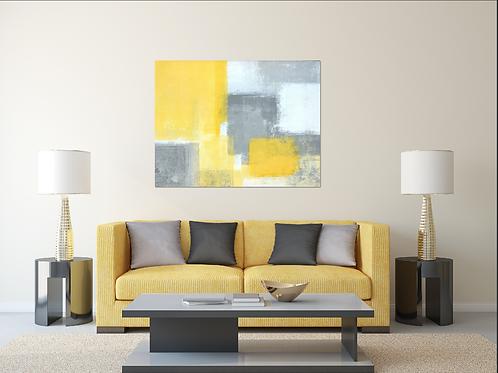 Abstracto amarillo y gris