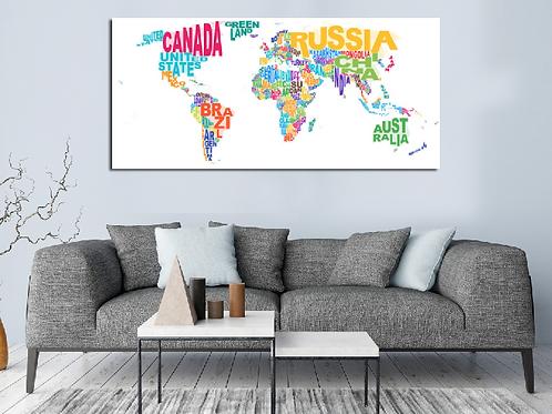 Mapa mundi nombres