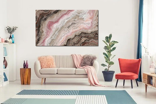 Abstracto rosa y cafe