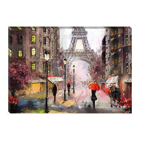 Bajo la lluvia de París