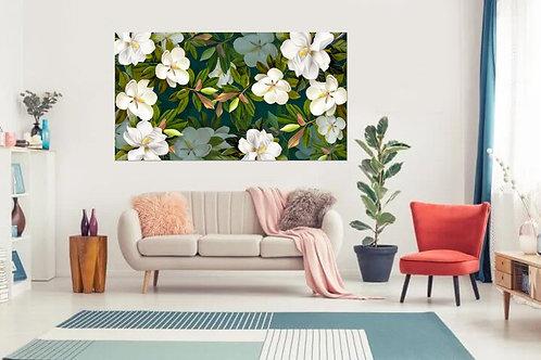 Flores en blanco