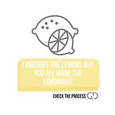 I brought the lemons but you all made the lemonade! Check The Process procesbegeleiding zoom cards online life co-creatie en participatie