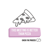 This meeting is beter than pizza Check The Process procesbegeleiding zoom cards online life co-creatie en participatie