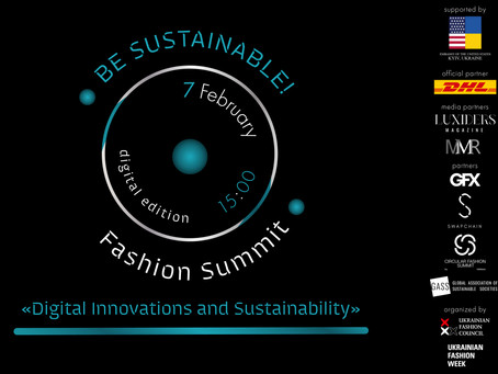 BE SUSTAINABLE!  Fashion Summit will take place in Ukraine for the third time