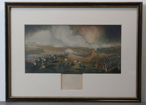 Charge of the British Troops on the road to Windlesham - George Baxter print