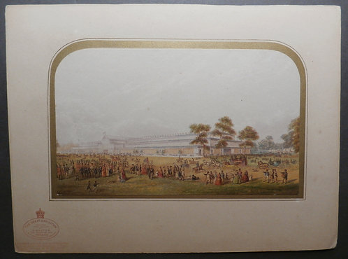 George Baxter Print - The Great Exhibition 1851 (Small Exterior) – Red Seal Mount