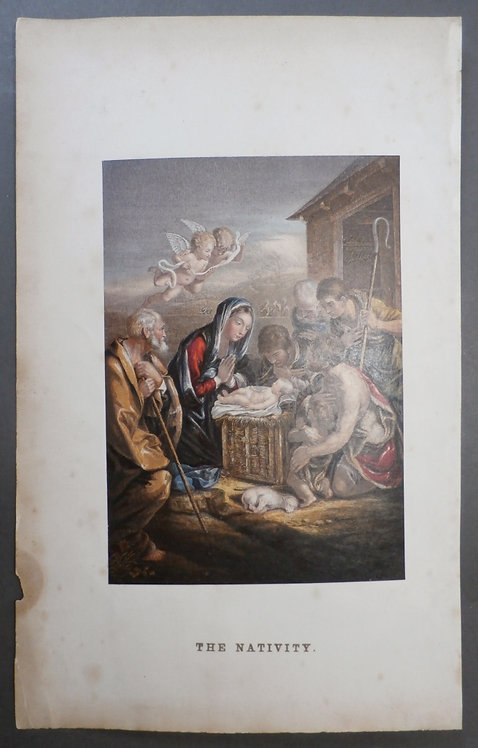 The Birth of the Saviour – Pictorial Expository Family Bible - George Baxter Print