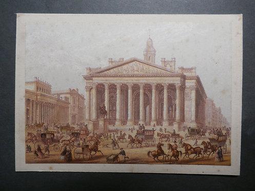 The Royal Exchange - George Baxter Print