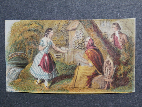 The Admonition or the Gypsy Fortune Teller - Needle-box Print - George Baxter