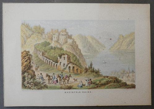 Rheinfels Rhine  - Le Blond print