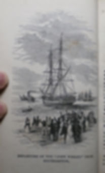 Departure of the John Wesley from Southampton - Baxter Print