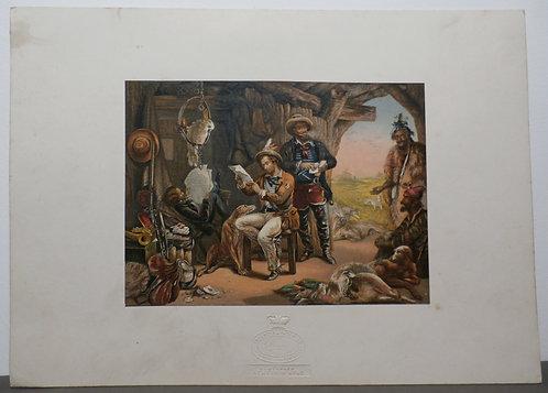 Australia News from Home - George Baxter Print