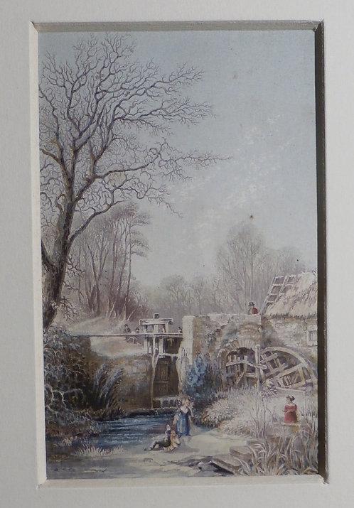 Winter - George Baxter Print