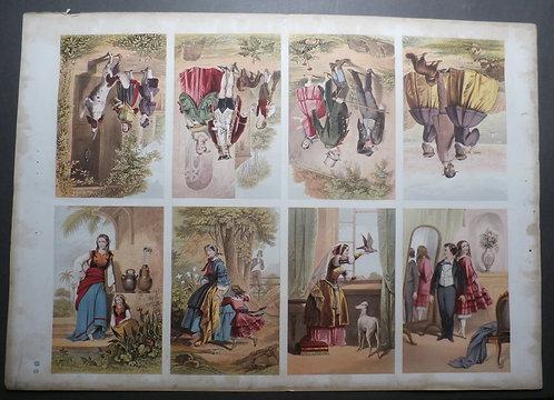 J M Kronheim - New Hall Vault - George Baxter Prints