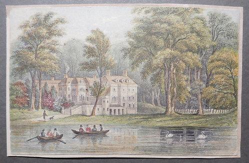 Duke of Buccleuch's residence, Richmond - George Baxter Print