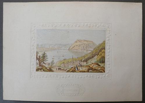 Coblentz Rhine  - Le Blond print