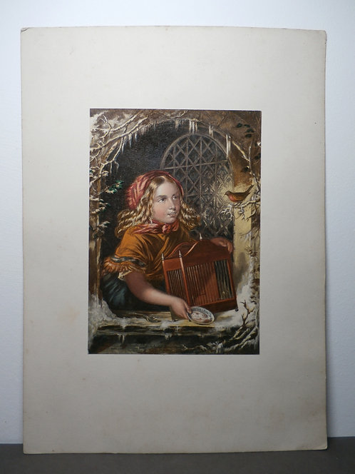 Come Pretty Robin - George Baxter Prints