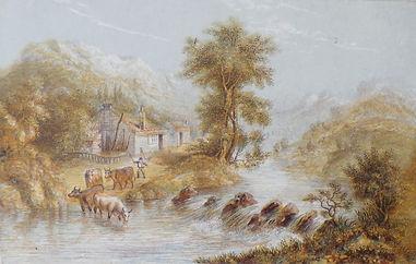 River Teify by George Baxter