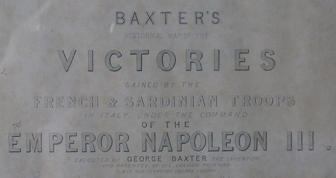 Baxter's Map of the Victories of Napoleon III