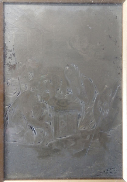 Baxter's steel engraved plate - every copy of this print by Baxter and Le Blond would have come from this printing plate