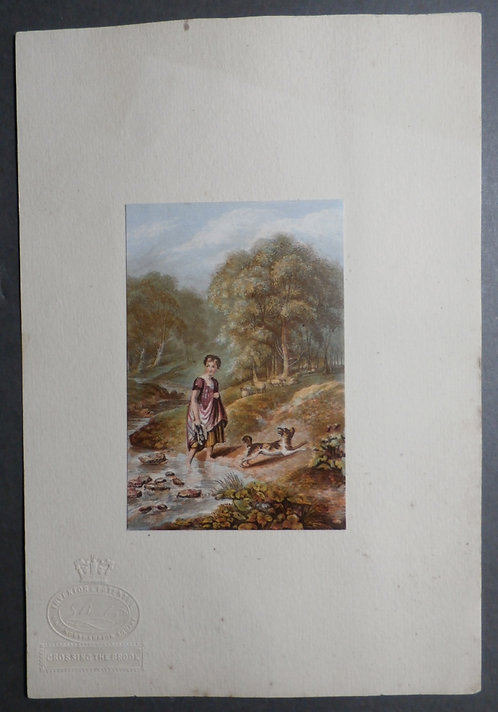 Crossing the Brook - Westall - Baxter Print