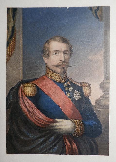 "Vive L'Empereur!"" Napoleon III - George Baxter Print"