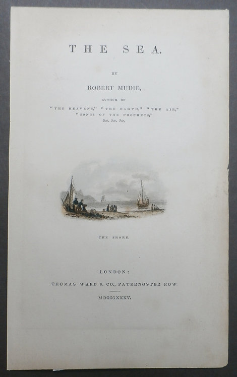 The Shore from The Sea by Robert Mudie - George Baxter Print
