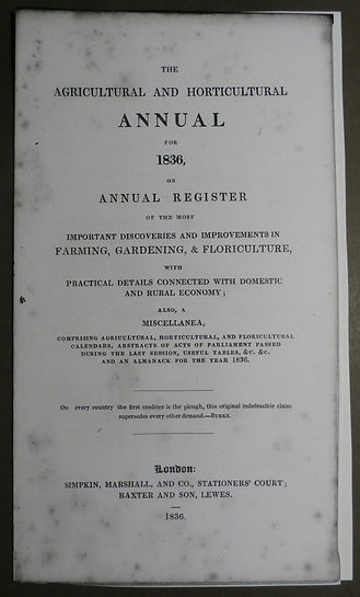 Baxter's Agricultural and Horticultural Annual - George Baxter