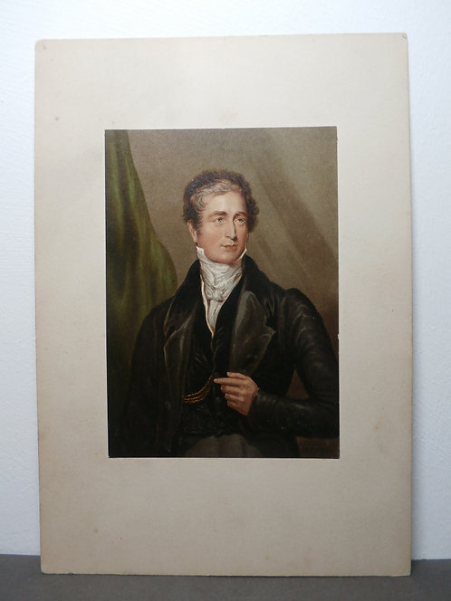 Sir Robert Peel (with extended finger) – RARE version - George Baxter Print