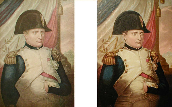 Napoleon I - a fake copy and a genuine Baxter Print
