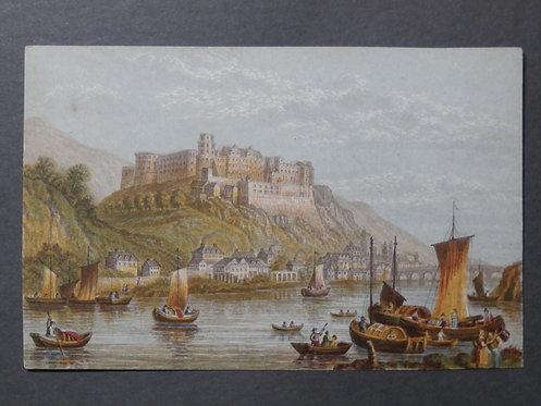 Castle of Heidleberg on the Rhine - Le Blond print