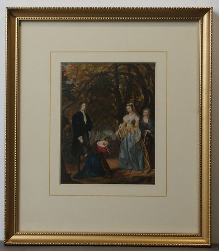 Jenny Deans' Interview with the Queen - Sir Walter Scott - George Baxter print