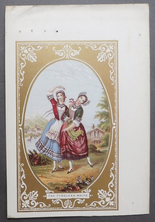 The Tyrolean Waltz (Rare version of GBM) - Le Blond & Co Baxter Print