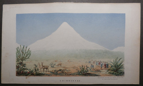 Chimborazo - Humboldt's book Views of Nature - George Baxter Print